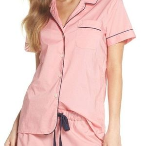 NEW J Crew Cotton Short Pajama Set Coral Pink